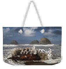 Surf And Three Arch Rocks Weekender Tote Bag