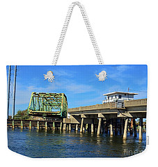 Surf City Bridge Weekender Tote Bag by Bob Sample