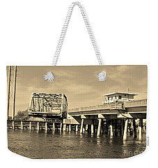 Surf City Bridge - Sepia Weekender Tote Bag