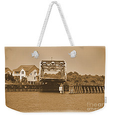 Surf City Vintage Swing Bridge In Sepia 1 Weekender Tote Bag