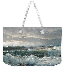 Surf On The Rocks Weekender Tote Bag by  Newwwman