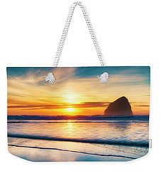 Surf Sunset Weekender Tote Bag