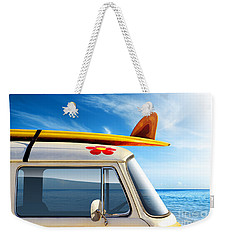 Surf Van Weekender Tote Bag by Carlos Caetano
