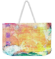 Weekender Tote Bag featuring the painting Surface Vector by Dominic Piperata
