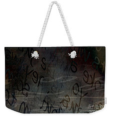 Surfacing Words Weekender Tote Bag