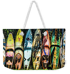 Surfboard Fence Maui Hawaii Weekender Tote Bag