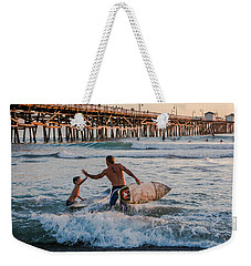 Surfboard Inspirational Weekender Tote Bag