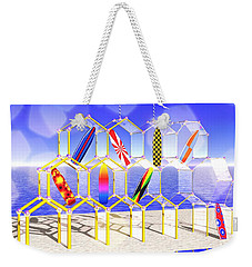 Weekender Tote Bag featuring the digital art Surfboard Palace by Andreas Thust