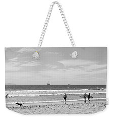 Strollin On Dog Beach Weekender Tote Bag