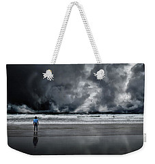 Surfer And An Angry Sky Weekender Tote Bag