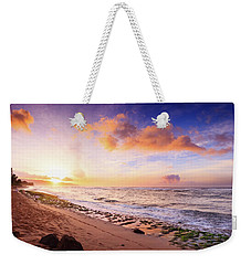Surfer At Sunset Weekender Tote Bag