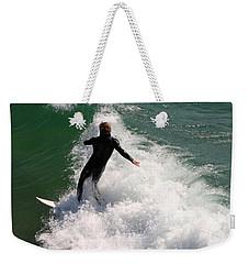 Surfer Catching A Wave Weekender Tote Bag