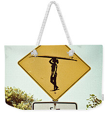 Weekender Tote Bag featuring the photograph Surfer Girl by Ana V Ramirez