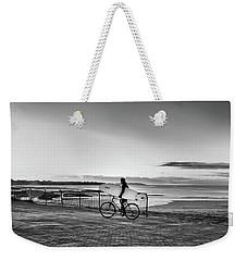 Surfer On A Bike Weekender Tote Bag