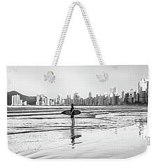Surfer On The Beach Weekender Tote Bag