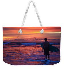 Surfer Sunset Costa Rica Weekender Tote Bag