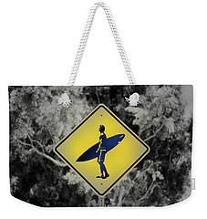 Surfer Xing Weekender Tote Bag