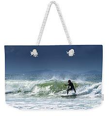 Surfing At Byron Bay Weekender Tote Bag