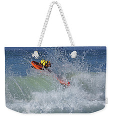 Surfing Dog Weekender Tote Bag
