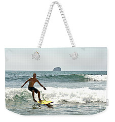 Surfing New Zealand Waves Weekender Tote Bag