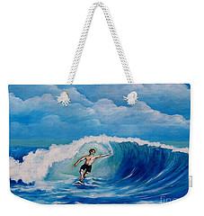Surfing On The Waves Weekender Tote Bag