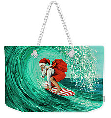 Surfing Santa Weekender Tote Bag by Darice Machel McGuire