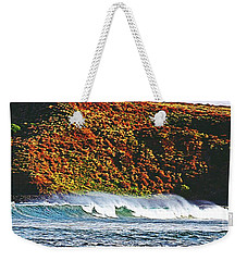 Surfing The Island Weekender Tote Bag