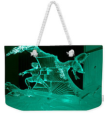 Surfing With Dolphins Weekender Tote Bag