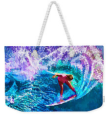 Surfs Like A Girl 1 Weekender Tote Bag by ABeautifulSky Photography