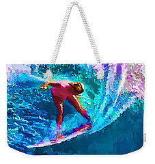 Surfs Like A Girl 2 Weekender Tote Bag by ABeautifulSky Photography
