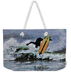 Weekender Tote Bag featuring the photograph Surfs Up by B Wayne Mullins