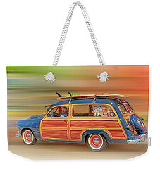 Weekender Tote Bag featuring the photograph Surf's Up by Susan Rissi Tregoning