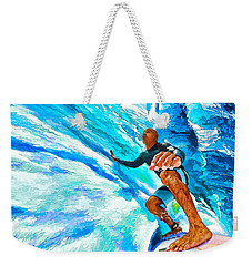 Surf's Up With Kelly Slater Weekender Tote Bag by ABeautifulSky Photography