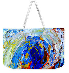 Weekender Tote Bag featuring the painting Surge 1 by Fred Wilson
