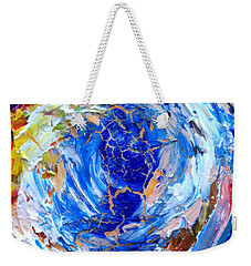 Weekender Tote Bag featuring the painting Surge 2  by Fred Wilson