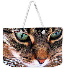 Weekender Tote Bag featuring the photograph Surmising by Angela Davies