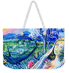 Surprised By A Swallow  Weekender Tote Bag by Trudi Doyle