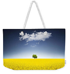 Surreal Canola Field Weekender Tote Bag