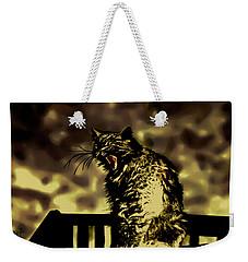 Surreal Cat Yawn Weekender Tote Bag by Gina O'Brien