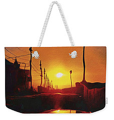 Surreal Cityscape Sunset Weekender Tote Bag