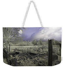 Weekender Tote Bag featuring the photograph Surreal Cloud And Pasture by Chriss Pagani