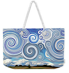 Surreal Cloud Blue Weekender Tote Bag
