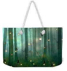 Surreal Dreamy Fantasy Nature Fairy Lights Woodlands Nature - Fairytale Fantasy Forest Woodlands  Weekender Tote Bag