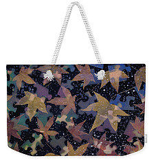 surreal landscape with autumn leaves - Autumn Sky Weekender Tote Bag