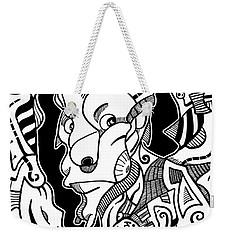 Surrealism Pagan Black And White Weekender Tote Bag