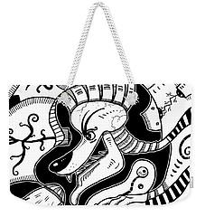 Surrealism Wolf Black And White Weekender Tote Bag