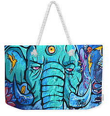 Surrounded By Snakes Weekender Tote Bag by Fraida Gutovich