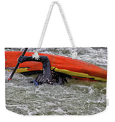 Survival In Cold Waters Weekender Tote Bag by Dennis Baswell