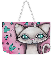 Susan  Cat Weekender Tote Bag by Abril Andrade Griffith
