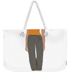 Weekender Tote Bag featuring the digital art Susan by Nancy Levan